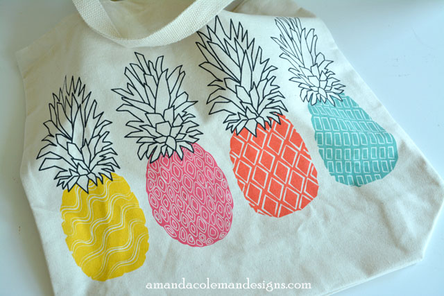 Bright Paper Pineapple Boxes inspiration from Old Navy