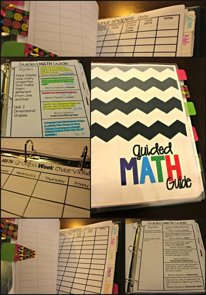 Guided Math Binder for First Grade  Guided Math Binder for Any Grade