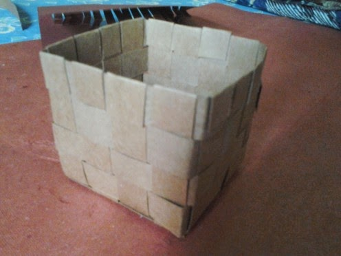 Best out of waste idea waste paper basket for Simple waste out of best