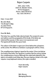 System computer corner styles of business letter fully blocked style altavistaventures Images