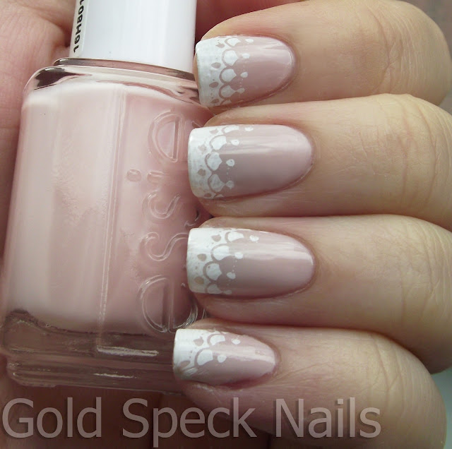 Gold speck nails interview nails french tip with bundle monster base coat la femme prinsesfo Images