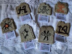 calendarios realizados en masa de papel
