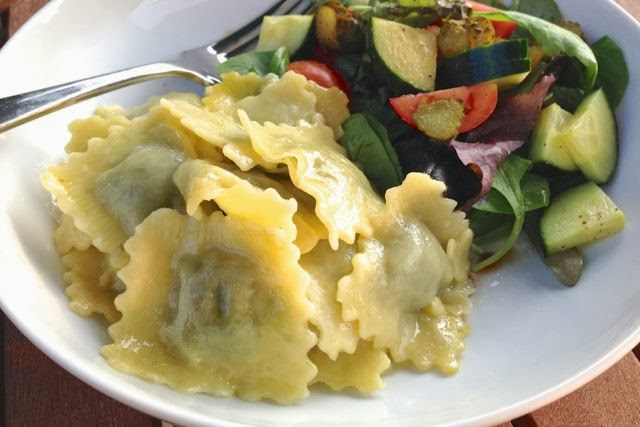 Ravioriselli vegan egg-free Ravioli with MozzaRisella dairy-free cheese