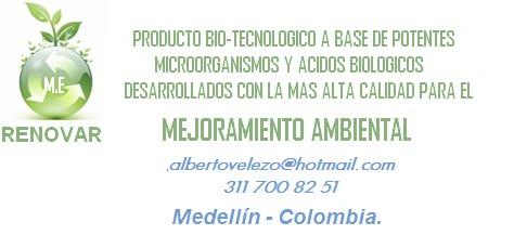 M.E. RENOVAR. FRANCISCO ALBERTO VELEZ.  SOLUCIONES AMBIENTALES. CEL: 311 700 82 51