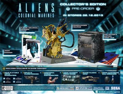 La edición coleccionista del juego Aliens: Colonial Marines