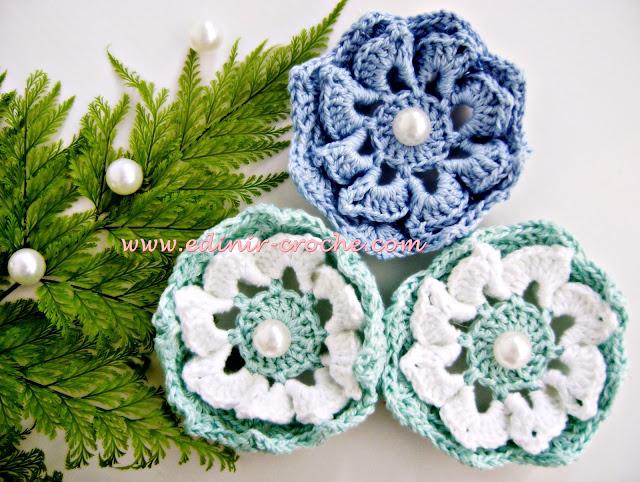 flores em croche leques da coleção aprendi e ensinei com edinir-croche dvd video aula blog loja