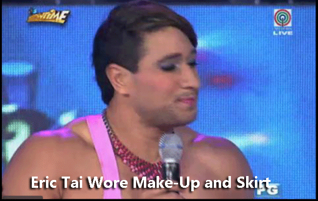 Eric Tai Wore Make-Up and Skirt
