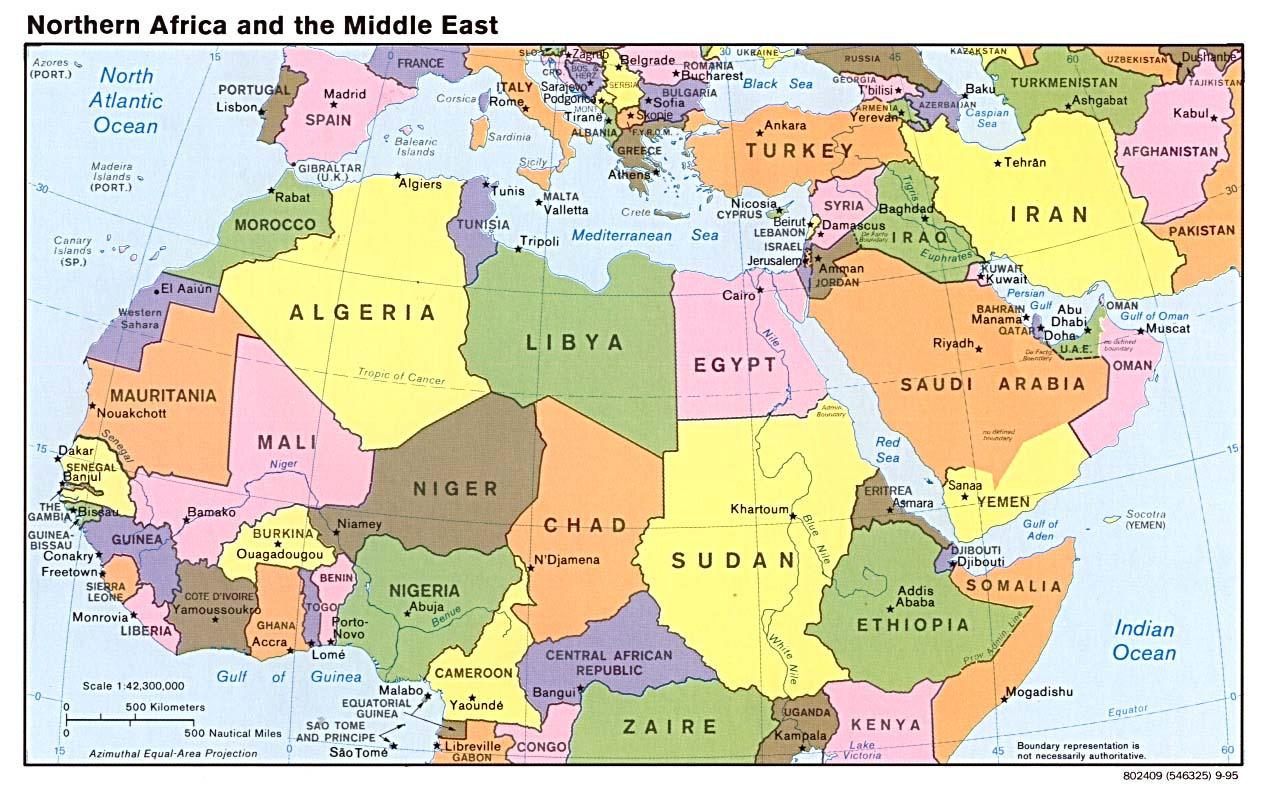 Map Africa Tunisia