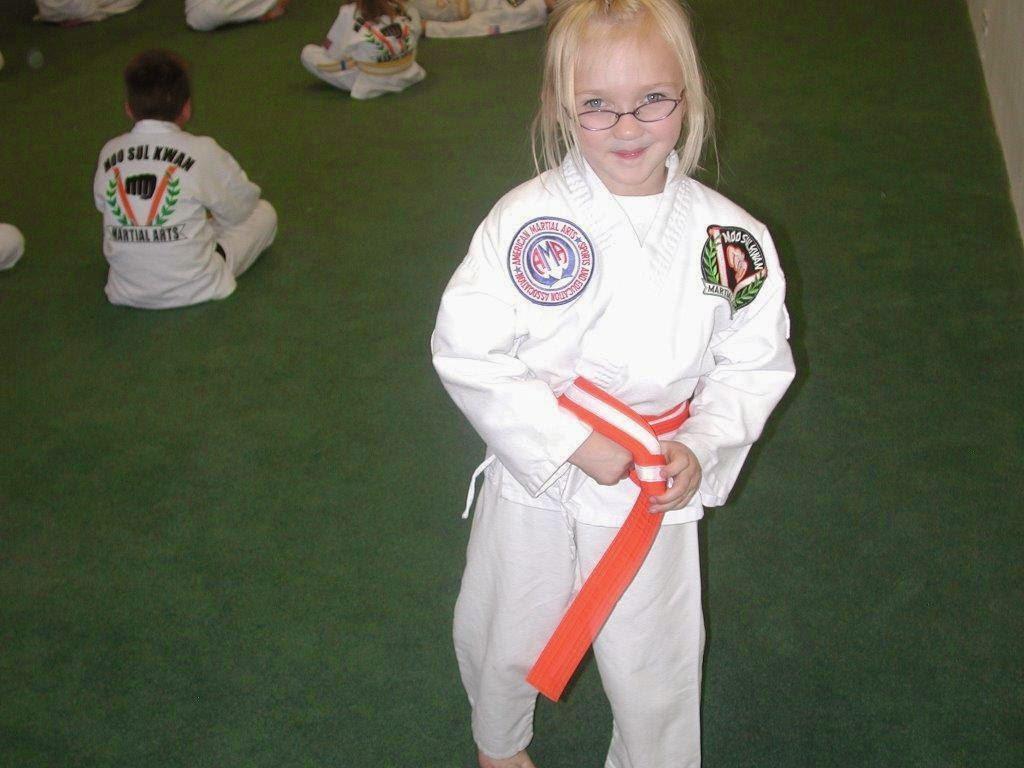 A young martial arts kid