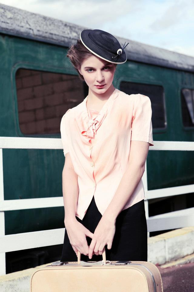Model Michelle St Hair Louise Walsh Makeup Jo Gooding Clothing 1940s American Blouse