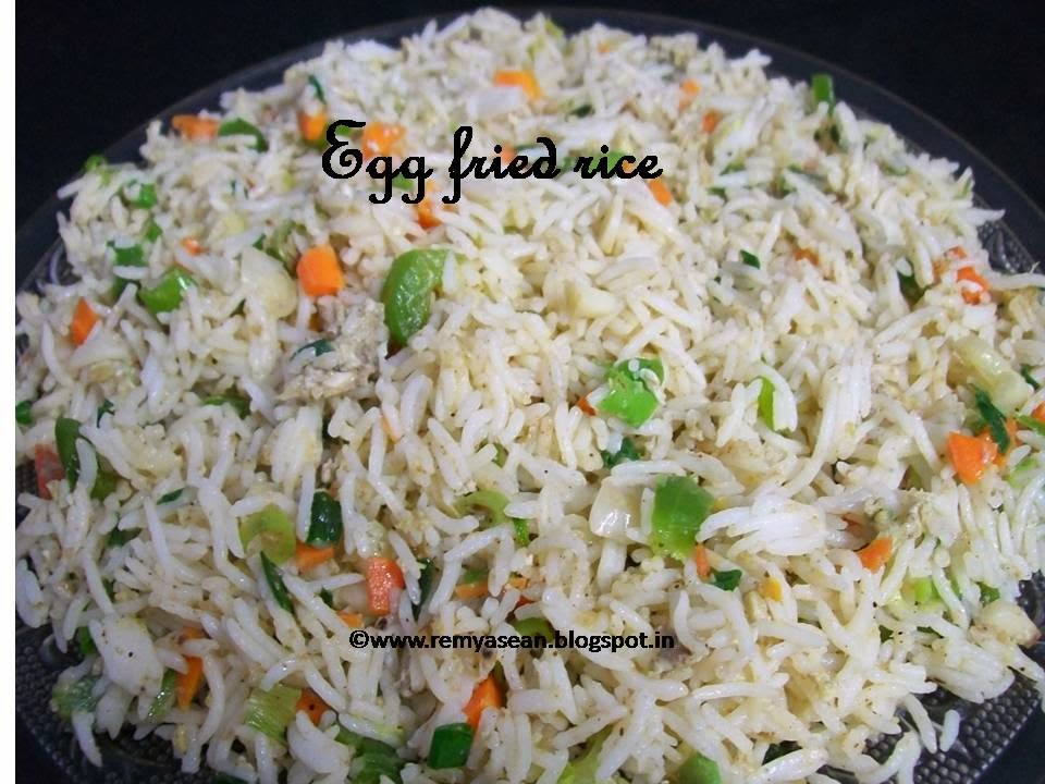 Egg fried rice fast food style