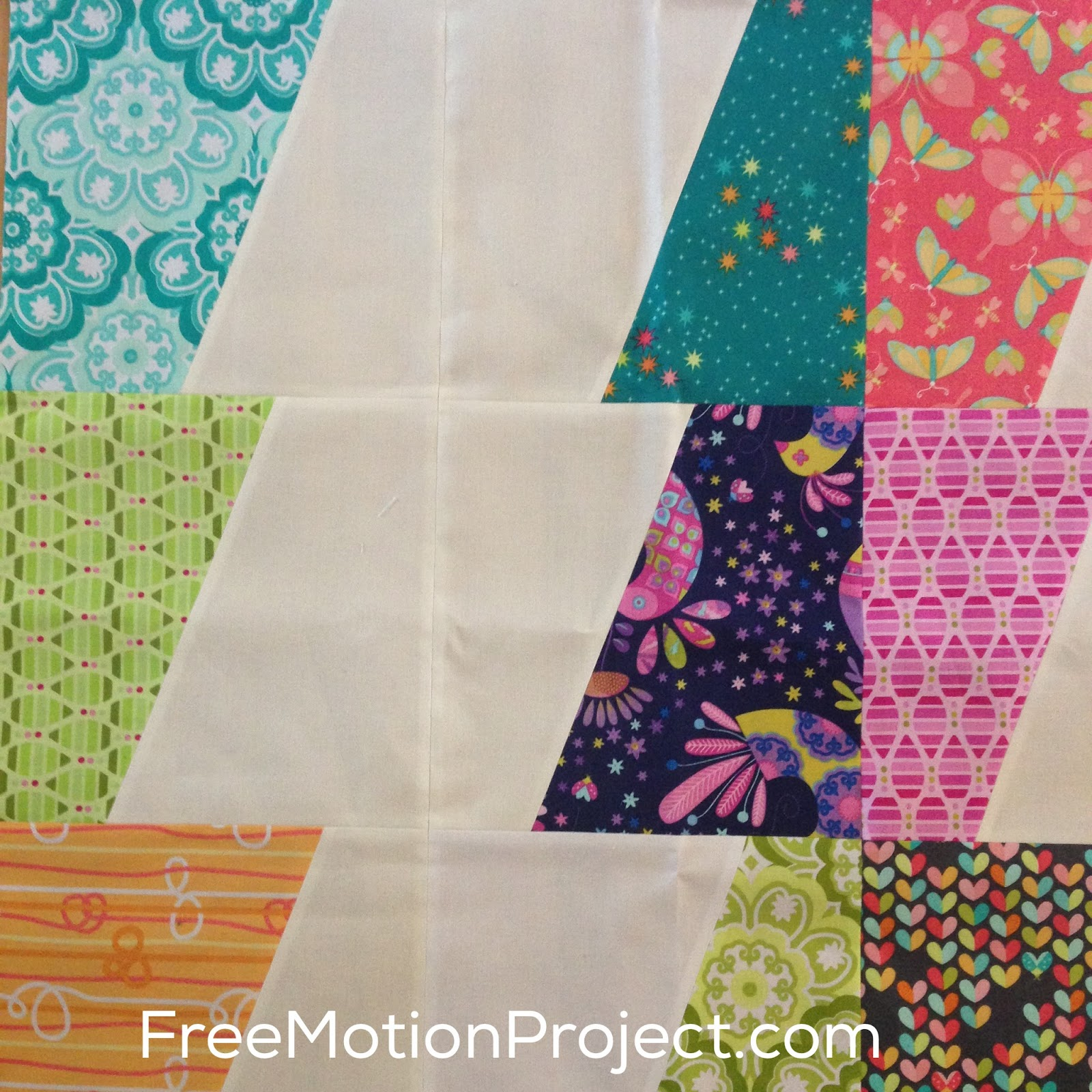 Modern Patchwork Quilt Patterns Free : The Free Motion Quilting Project: Modern Chevron Patchwork Quilt