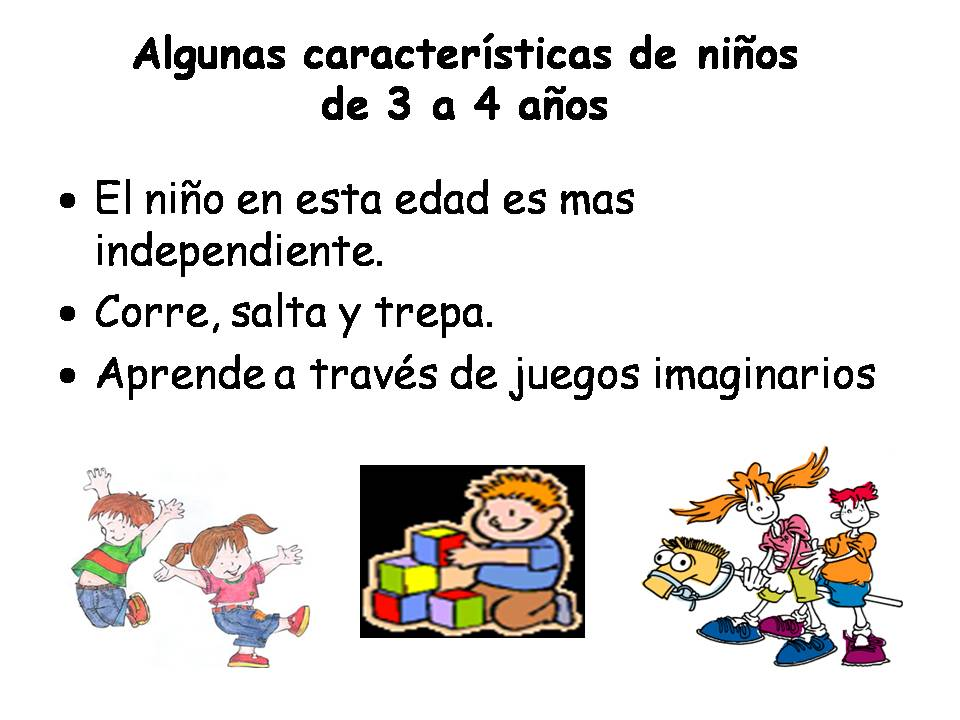 Caracteristicas de los ni os de 3 a 6 a os for Sillas para ninos de 3 a 6 anos