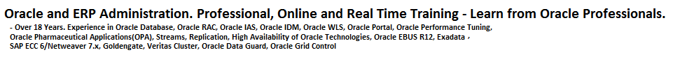 Oracle - ERP Administration - Oracle Professional, Online and Real Time training
