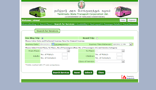 Tamilnadu Govt SETC Online Booking Tutorial