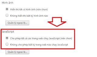 Cách bật/tắt JavaScript trong trình duyệt Google Chrome