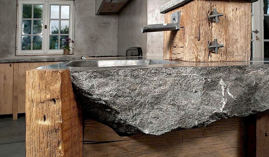 Fregaderos de piedra para exterior finest medieval piedra - Fregaderos de piedra ...