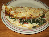Egg white spinach omelette
