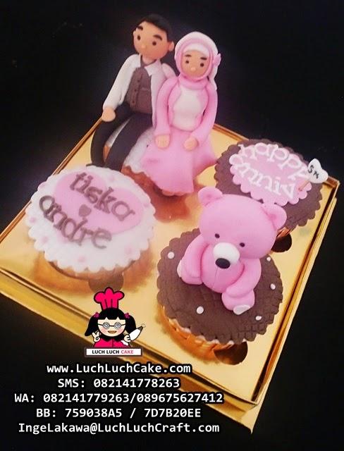 Cupcake Anniversary Cute Daerah Surabaya - Sidoarjo