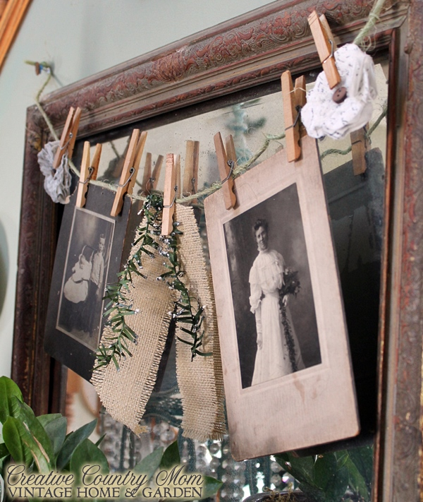 Antique Photo Garland