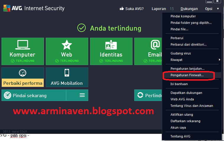 Cara Mengatasi Firewall AVG Yang Memblok IDM   Arminaven Gayo