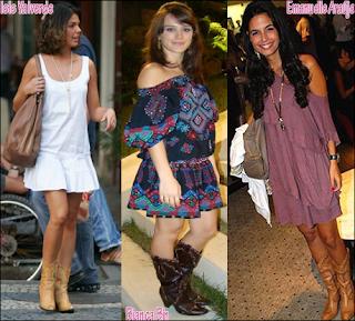 imagens de looks de Vestidos com Botas