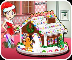 Bánh kem nhà giáng sinh, game lam banh kem