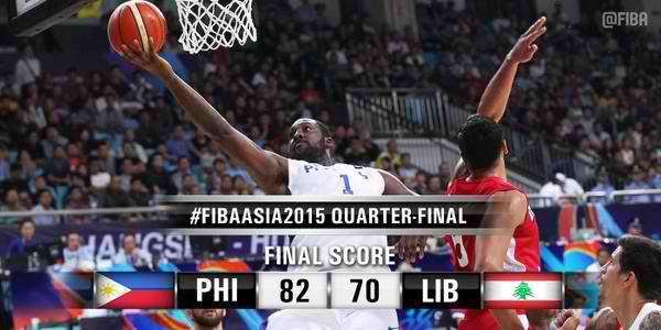 Image: Gilas Pilipinas defeats Lebanon, 82-70 | #FIBAAsia2015