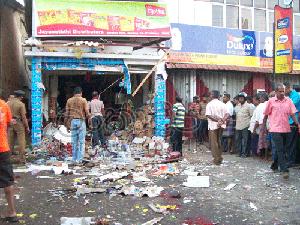 Akuressa bomb blast photo 1