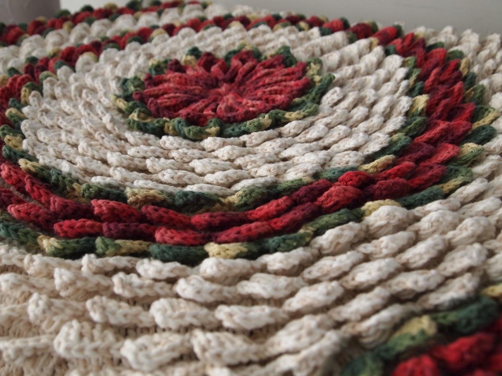 os croches da elsa tapete redondo   flor bico de papagaio   final