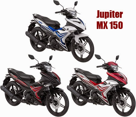 pilihan warna Jupiter MX 150