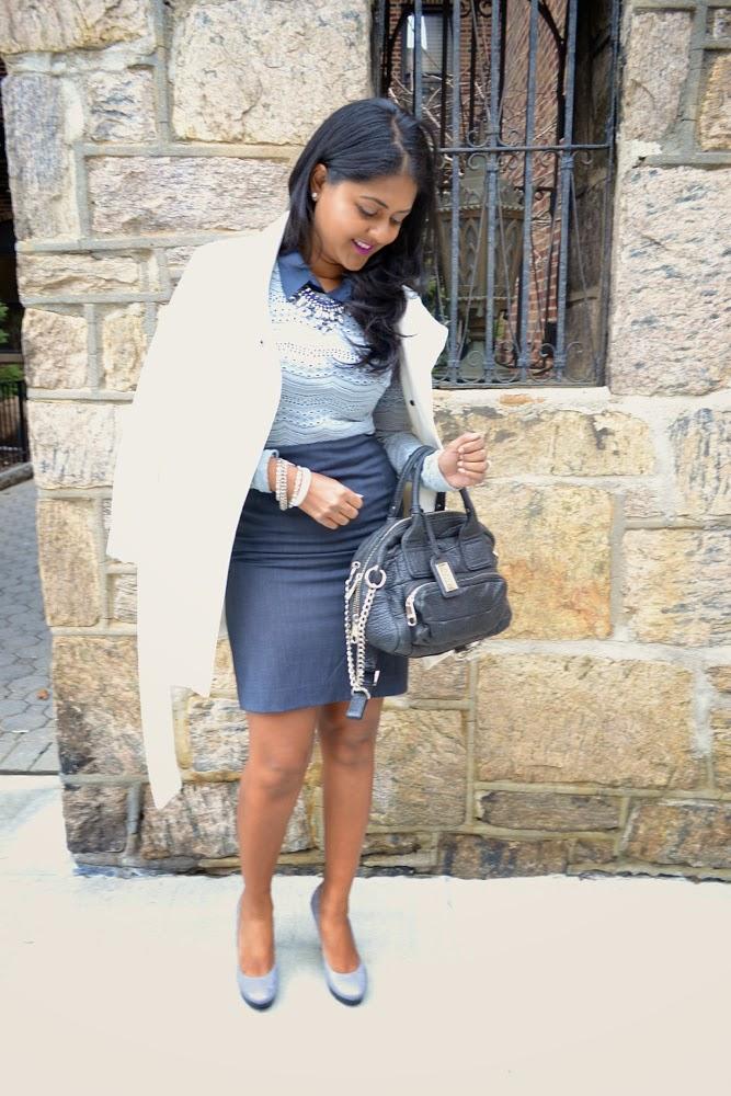 work wear, office outfit, work skirt business attire corporate wear