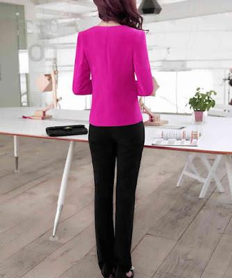 Desain Baju Kerja Wanita Modern Terbaru