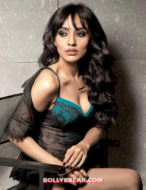 neha sharma in black and teal lingerie looking smoking hot -  Neha Sharma HOT PHOTO