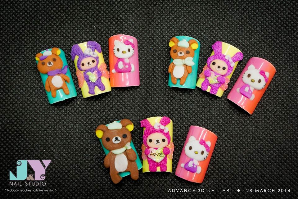 J nail studio 3d advance nail art 28 march who can resist these cute 3d acrylic cartoon characters learn to create them on your own we offer fully customized short courses in order to address the prinsesfo Gallery
