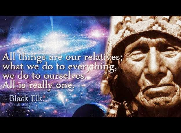 Bild All things are our relatives... All is really one. Black Elk