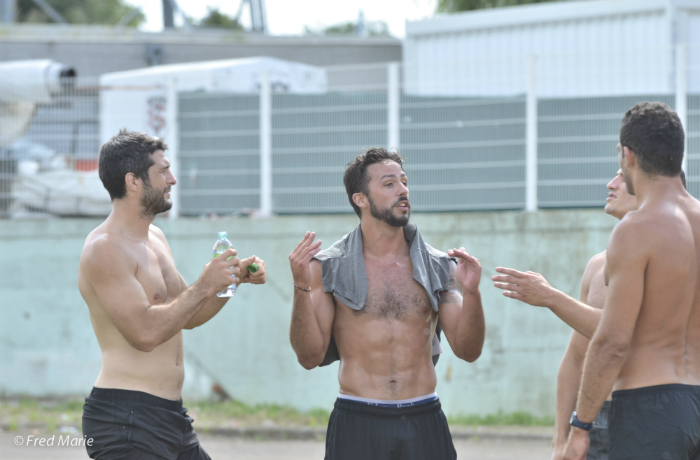 From left to right: Jean Bouilhou, Clément Poitrenaud, Sylvain Nicolas and Grégory Lamboley • Rugby Union Players