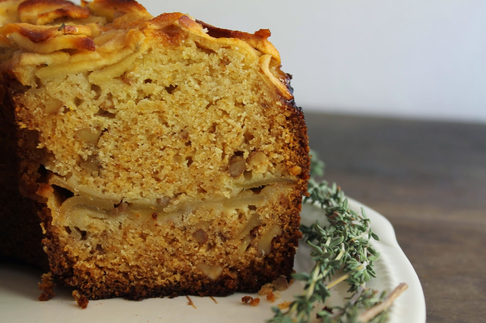 Apple Cake with Cinnamon, Thyme, and Rose