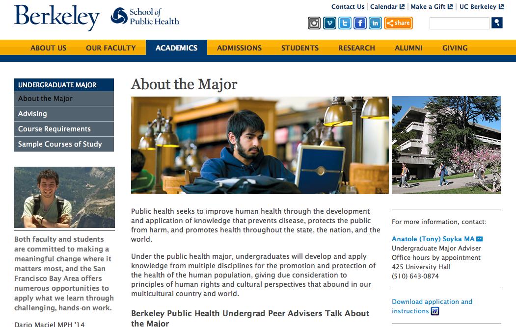 Berkeley Undergraduate Public Health