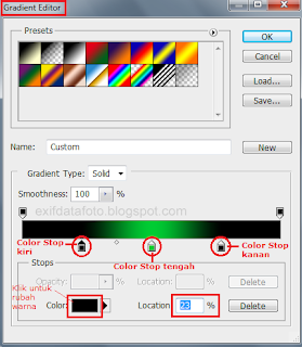 cara membuat color stop gradient overlay photoshop