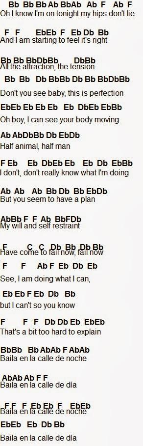 Flute Sheet Music Hips Dont Lie
