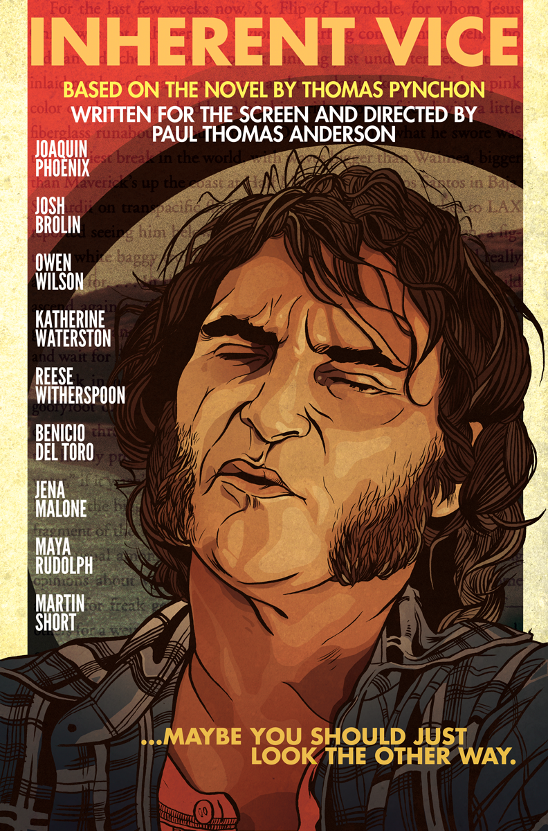 Inherent Vice Film Poster with Joaquin Phoenix