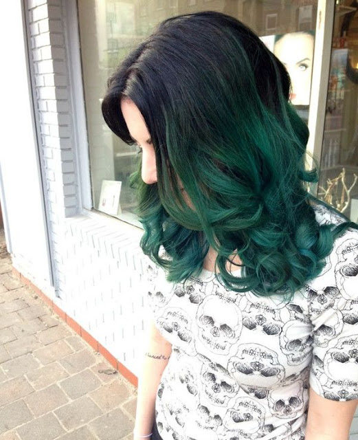Teal Blue Hair Color Ideas for Black & Bown Hair -