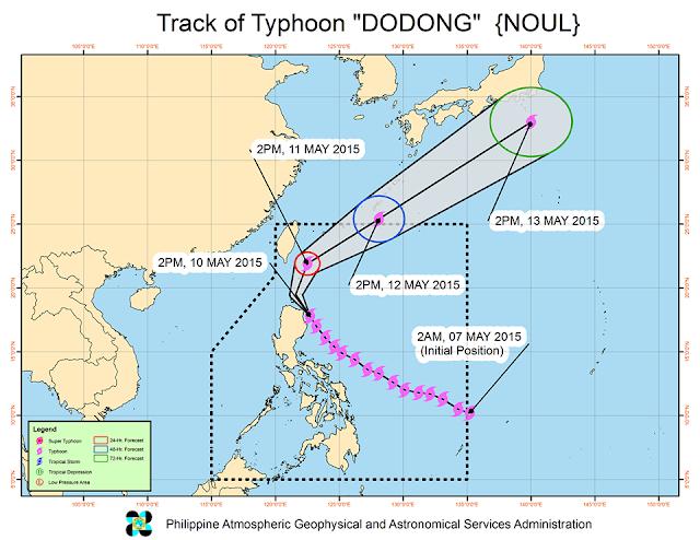 Typhoon Dodong track PAGASA