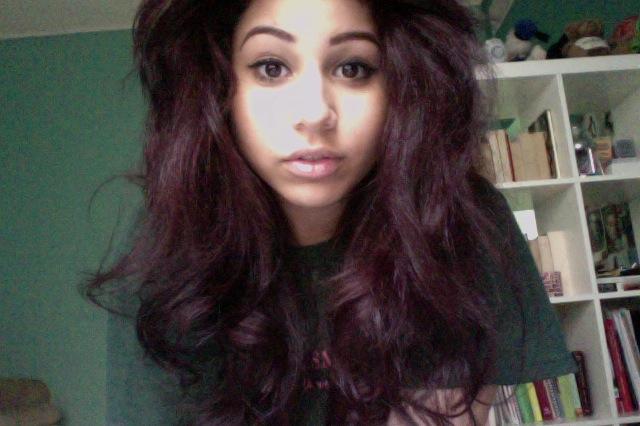 Purple Tinted Hair | Dark Brown Hairs
