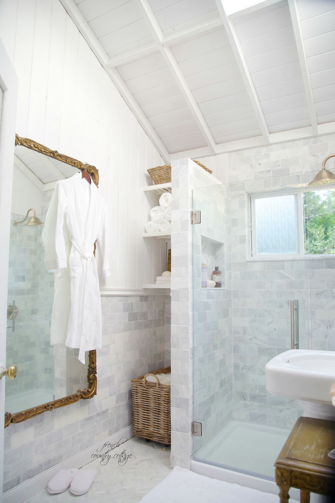 French Cottage Bathroom Renovation Reveal French: small cottage renovation ideas