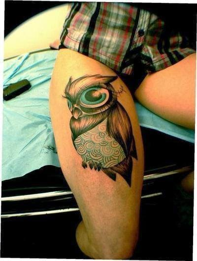 3d Tattoos Ideas On Legs.