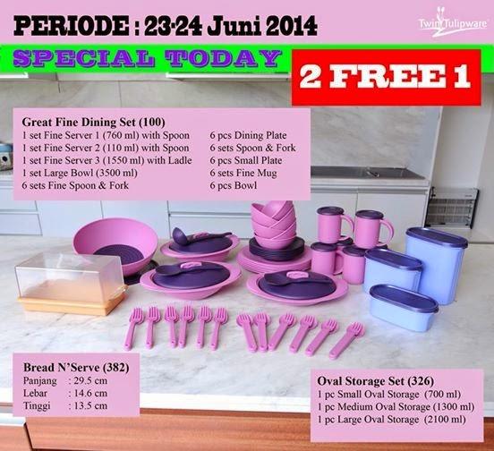 Promo Tulipware 23 dan 24 Juni 2014