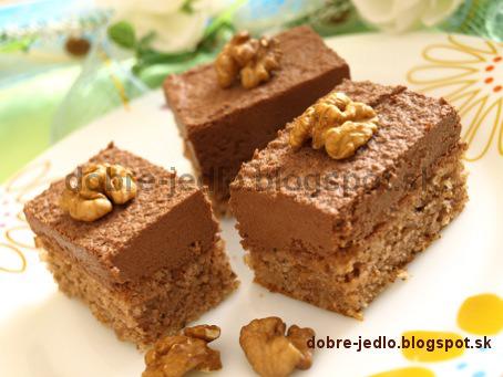 Orechové rezy s čokoládou - recepty
