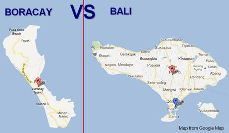 About the island of Boracay, the Philippines, as a competitor of the island of Bali, Indonesia